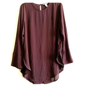 Burgundy oversized dress shirt size 14 H&M
